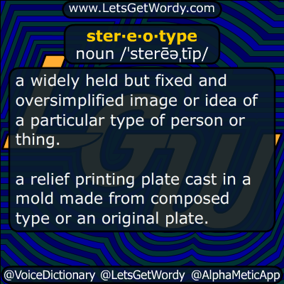 stereotype 02/25/2015 GFX Definition