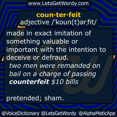counterfeit 06/02/2015 GFX Definition
