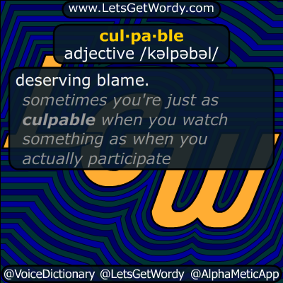 culpable 09/13/2014 GFX Definition