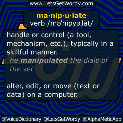 manipulate 11/08/2014 GFX Definition