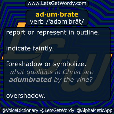 adumbrate 11/18/2014 GFX Definition
