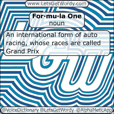 Formula One 01/03/2012 GFX Definition of the Day