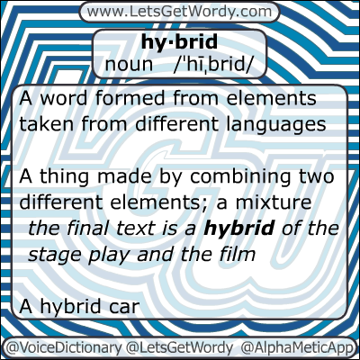 Hybrid 01/04/2013 GFX Definition of the Day
