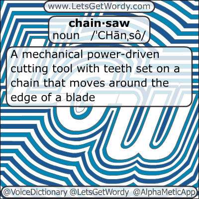 Chainsaw 01/02/2013 GFX Definition of the Day