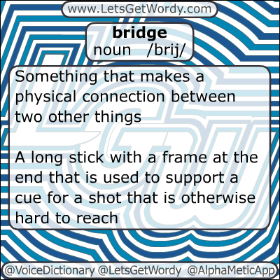 Bridge 01/05/2013 GFX Definition of the Day