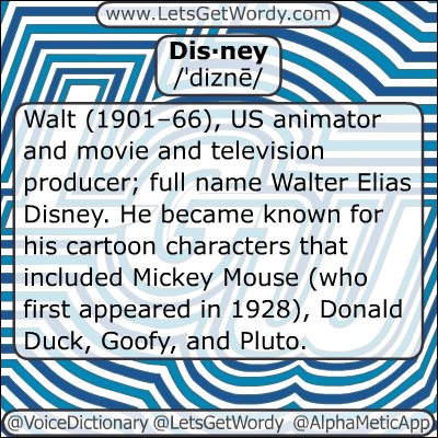 Disney 01/06/2013 GFX Definition of the Day