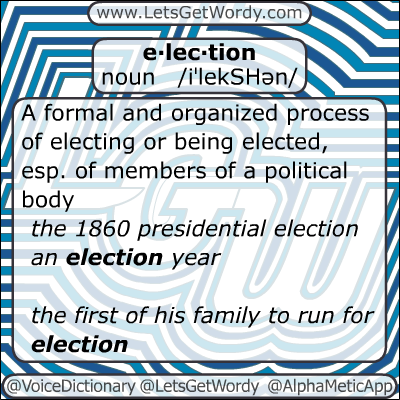 Election 01/07/2013 GFX Definition of the Day