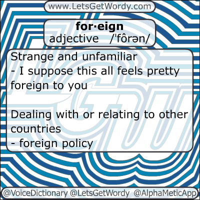 Foreign 01/11/2013 GFX Definition of the Day