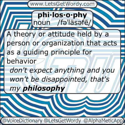 Philosophy 01/14/2013 GFX Definition of the Day