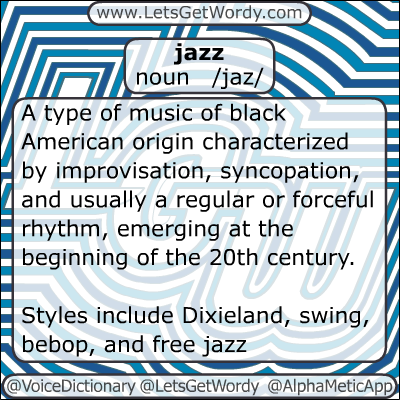 Jazz 01/16/2013 GFX Definition of the Day