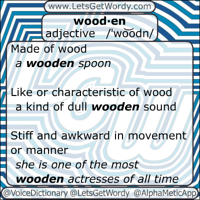 Wooden 01/20/2013 GFX Definition of the Day