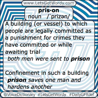 Prison 02/11/2013 GFX Definition of the Day