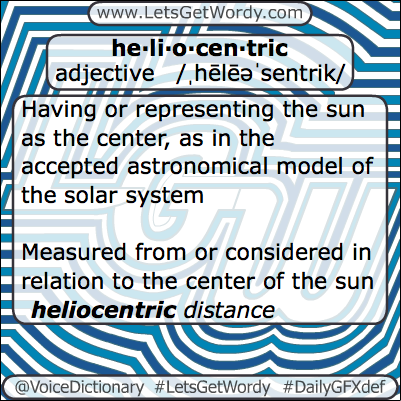 Heliocentric 02/13/2013 GFX Definition of the Day