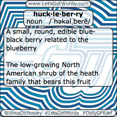 Huckleberry 02/18/2013 GFX Definition of the Day