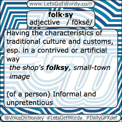 Folksy 03/12/2013 GFX Definition of the Day