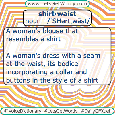 Shirtwaist 03/25/2013 GFX Definition of the Day