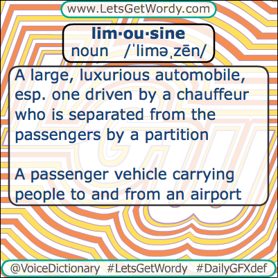 Limousine 03/30/2013 GFX Definition of the Day