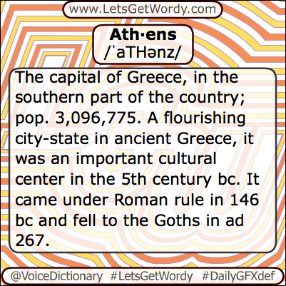 Athens 04/06/2013 GFX Definition of the Day