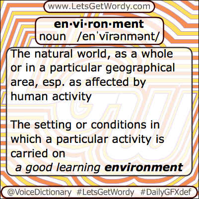 Environment 04/22/2013 GFX Definition of the Day