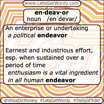 Endeavor 04/25/2013 GFX Definition of the Day