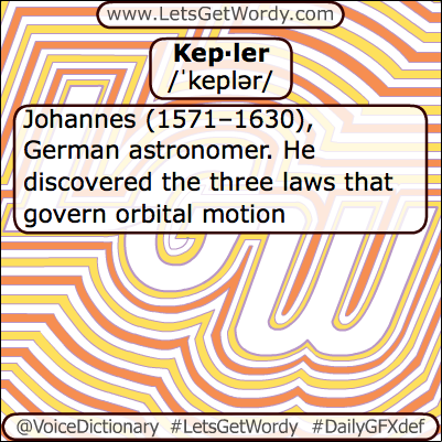 Kepler 04/27/2013 GFX Definition of the Day