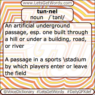 Tunnel 05/06/2013 GFX Definition of the Day