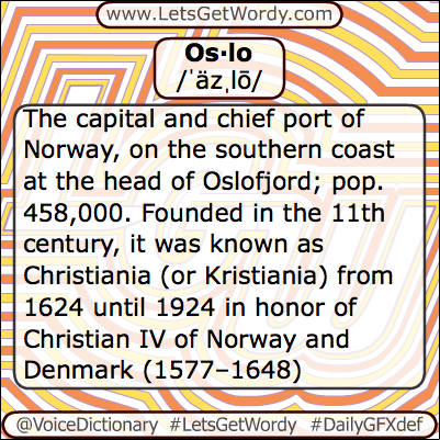 Oslo 05/07/2013 GFX Definition of the Day