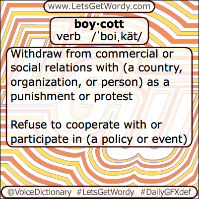 Boycott 05/08/2013 GFX Definition of the Day
