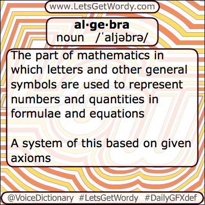Algebra 05/10/2013 GFX Definition of the Day