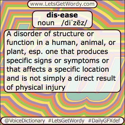 Disease 05/18/2013 GFX Definition of the Day