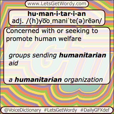 Humanitarian 05/21/2013 GFX Definition of the Day
