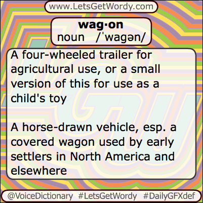 Wagon 05/22/2013 GFX Definition of the Day