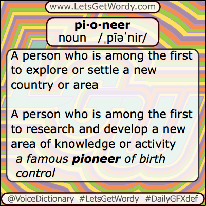 Pioneer 05/24/2013 GFX Definition of the Day