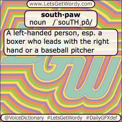 Southpaw 06/02/2013 GFX Definition of the Day