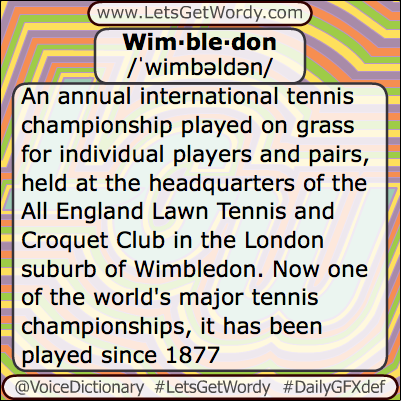Wimbledon 07/06/2013 GFX Def