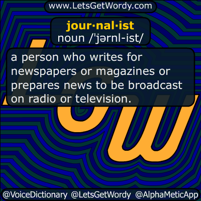 journalist 08/20/2014 GFX Definition