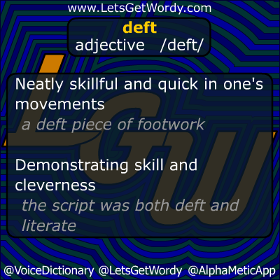 deft 09/18/2012 GFX Definition of the Day