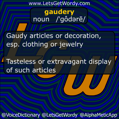 Gaudery 10/09/2012 GFX Definition of the Day