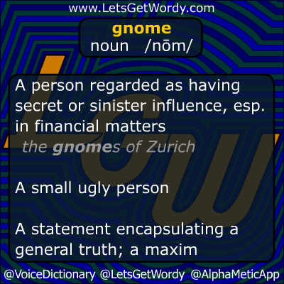 Gnome 10/14/2012 GFX Definition of the Day