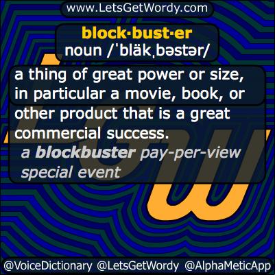 Blockbuster 10/19/2013 GFX Definition