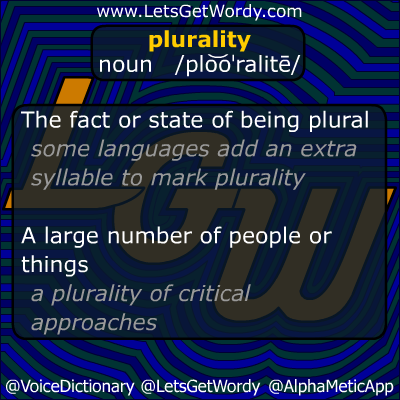 Plurality 10/20/2012 GFX Definition of the Day