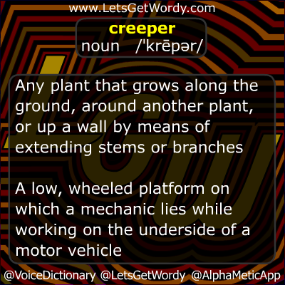 Creeper 10/25/2012 GFX Definition of the Day
