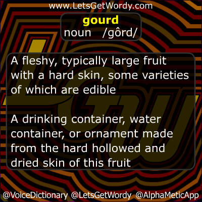 Gourd 10/27/2012 GFX Definition of the Day