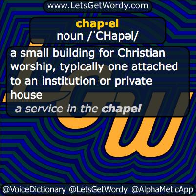 Chapel 11/01/2013 Definition