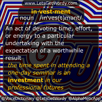 Investment 11/06/2012 GFX Definition of the Day