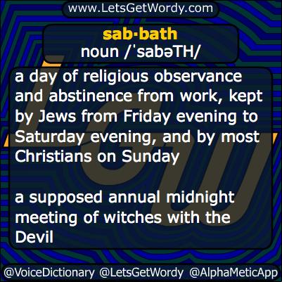 Sabbath 11/12/2013 GFX Definition
