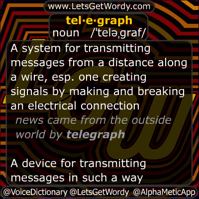 Telegraph 11/15/2012 GFX Definition of the Day