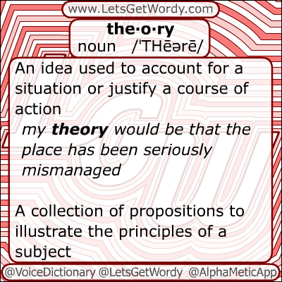 Theory 11/24/2012 GFX Definition of the Day