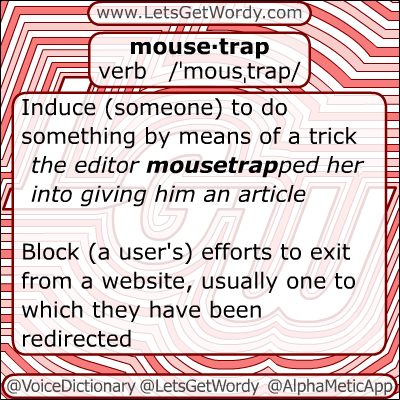 Mousetrap 11/25/2012 GFX Definition of the Day