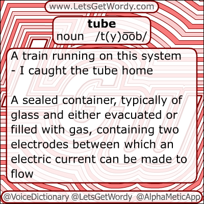 Tube 12/01/2012 GFX Definition of the Day